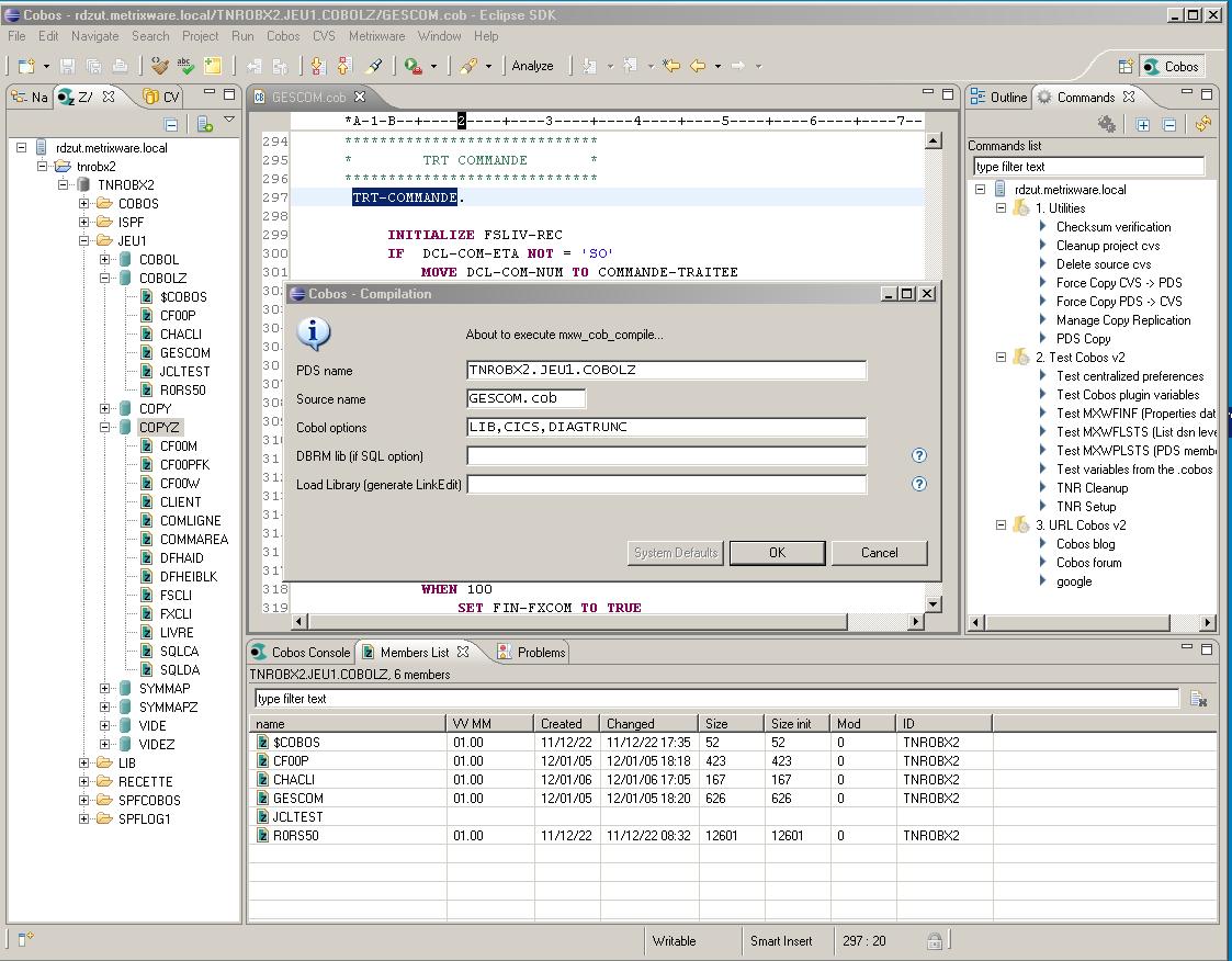 Cobos   Mainframe Remote Commands