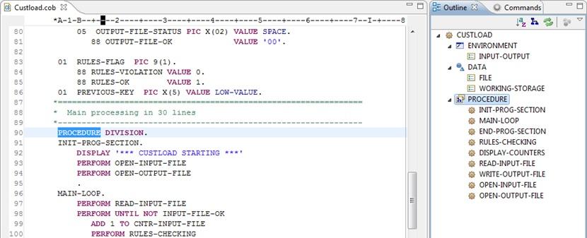 Cobos Tutorial : How to edit a COBOL program with Cobos   Cobos