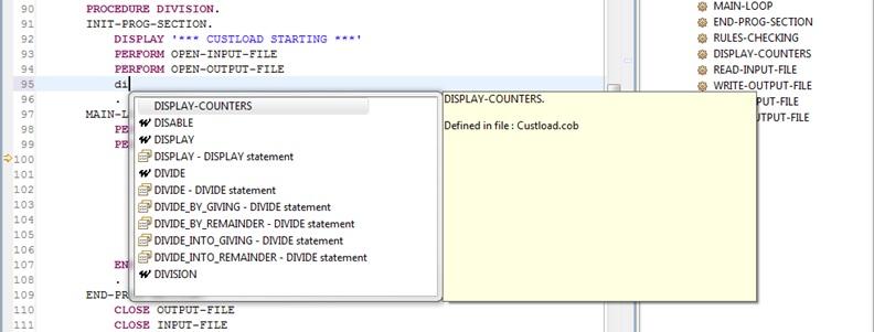 Cobos Tutorial : How to edit a COBOL program with Cobos | Cobos